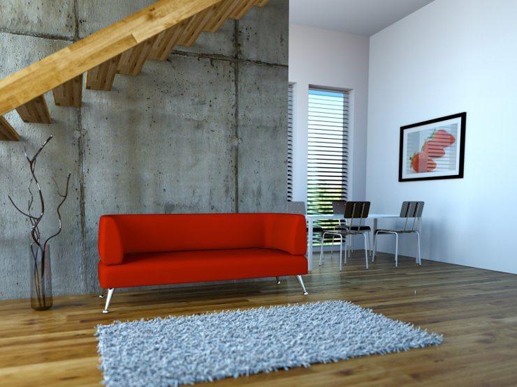 Ein farbiges Ledersofa ist ein besonderer Blickfang. (Bild: © virtua73 - Fotolia.com)