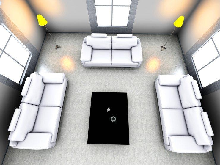Sitzgruppen aus Polstermöbeln lassen sich problemlos erweitern, wenn der Platzbedarf wächst. (Bild: © Spectral-Design - Fotolia.com)