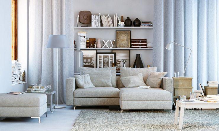 Ein schönes Sofa sorgt für eine gemütliche Atmosphäre. (Bild: © lightpixel - Fotolia.com)
