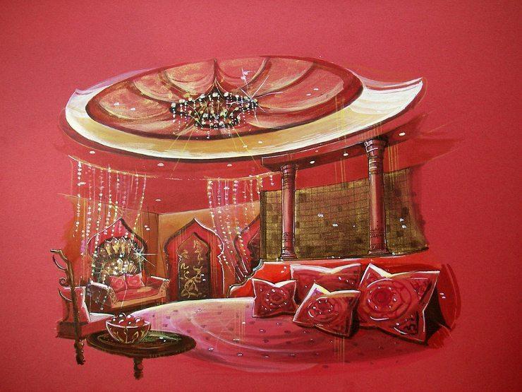 Viele Kissen verwandeln das Bett in ein romantisches Lager. (Bild: © Glowonconcept - shutterstock.com)