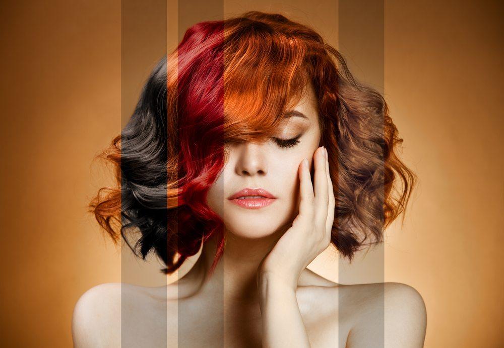 Rote haare nach farben