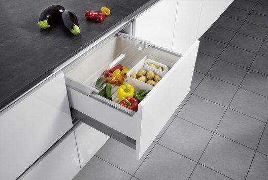 Die Pantry-Box für Obst und Gemüse. (Bild: Hailo Einbautechnik)