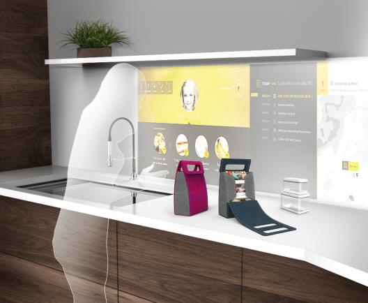 Die interaktive Küche der Zukunft von Whirlpool. (Bild: © Whirlpool Corporation)