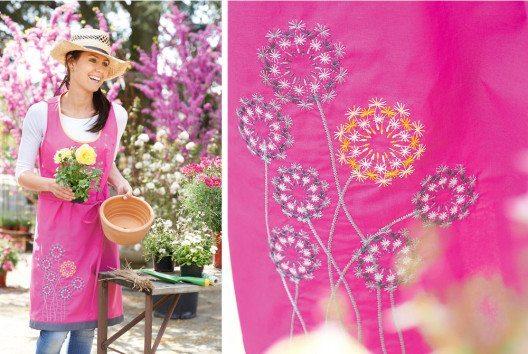 Beim Sticken lassen sich Textilien aller Art durch zauberhafte Motive bereichern. (Bild: BERNINA)