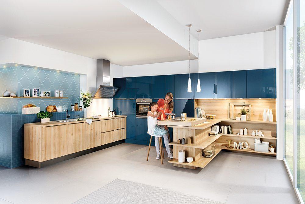 Häcker Küchen: Laser Brillant Atlantikblau
