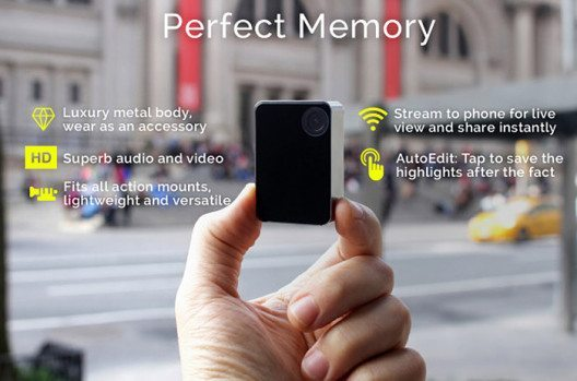 """Die bald auf dem Markt erscheinende """"Perfect Memory""""-Kamera (Bild: indiegogo.com)"""