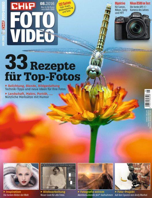 CHIP FOTO-VIDEO DVD Ausgabe 08/16 (Bild: CHIP)