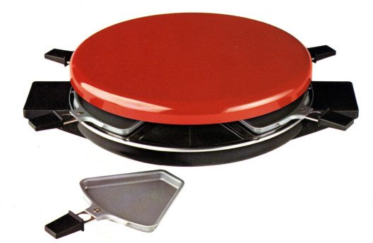 Tefal – Elektrisches Raclette mit Pfännchen 1978 (Bild: Tefal)