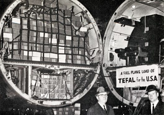 Tefal Luftfracht in den USA 1960 (Bild: Tefal)