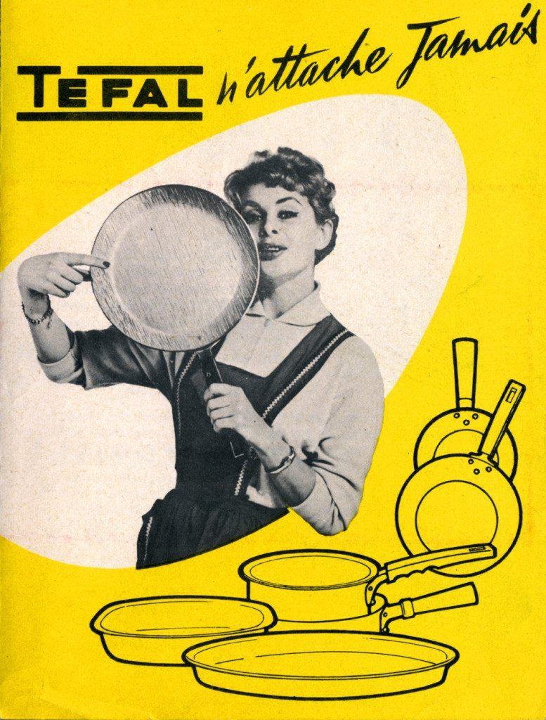 Tefal-Werbung für antihaft-versiegeltes Kochgeschirr 1956 (Bild: Tefal)
