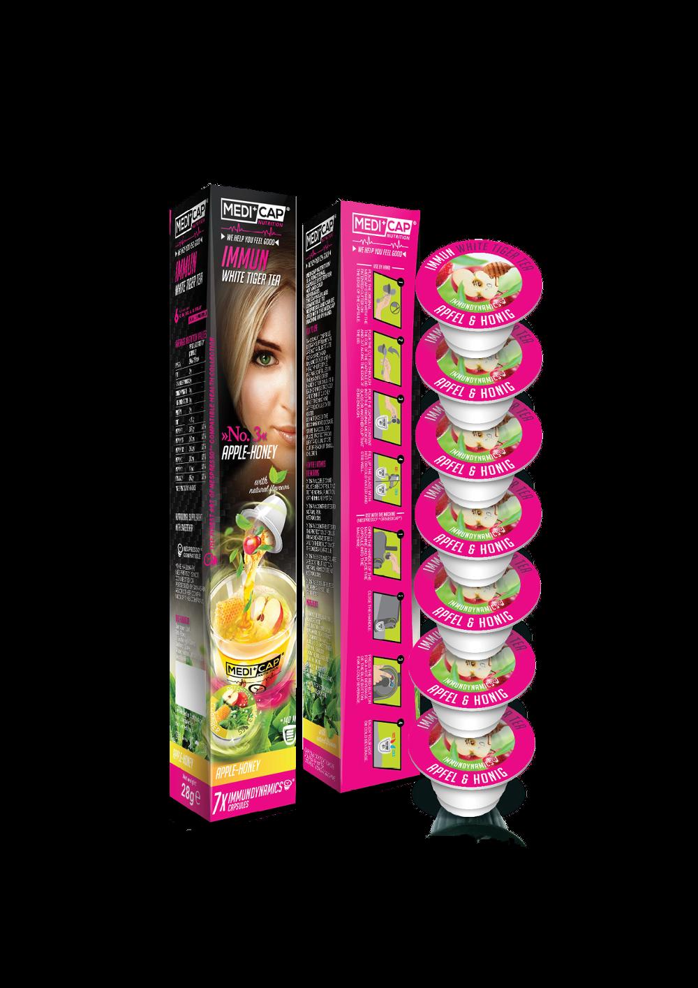 Exklusiv bei Manor: Medicap Immun Kapseln, White Tiger Tea, Apfel-Honig, 7 Stück CHF 9.90