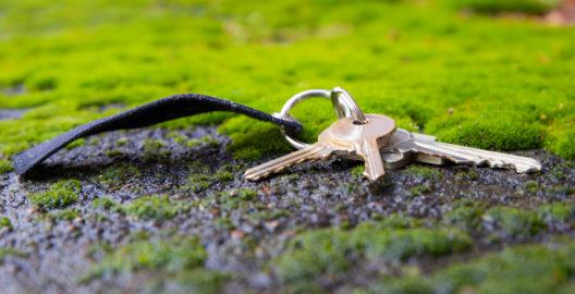Schlüssel finden mit einem Schlüsselfinder (Bild: Rainer Fuhrmann - shutterstock.com)