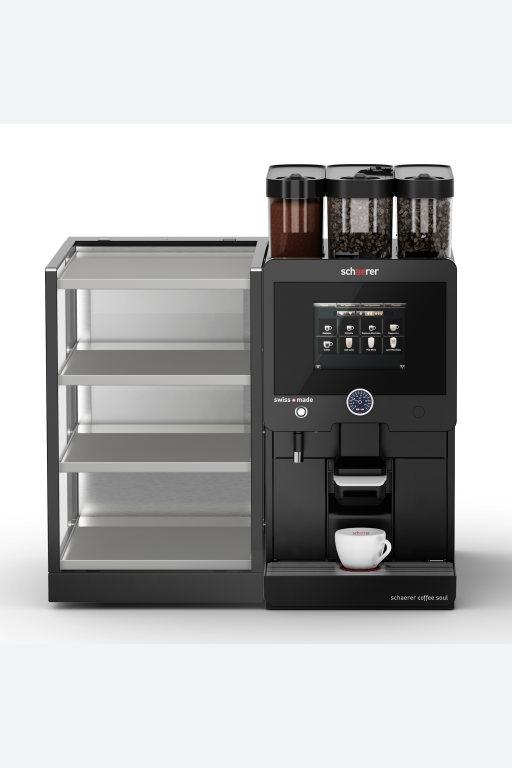Schaerer Coffee Soul mit beleuchtbaren Tassenwärmern in schmaler und breiter Ausführung